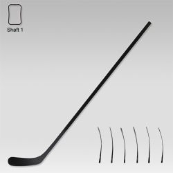 Super Light All Black Intermediate Hockey Stick